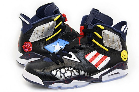 Air Jordan VI: The Comedian Customs by Sekure D