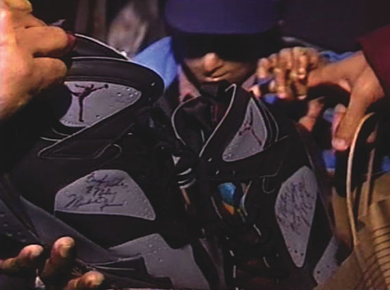 Air Jordan VII: Bordeaux All Star Game Worn Michael Jordan Autographed Pair