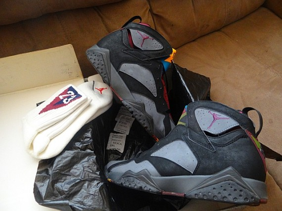 Air Jordan VII: Bordeaux Original with Matching Socks
