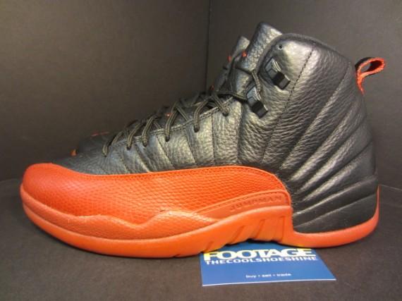air jordan 12 black and orange