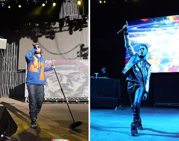 Kid Cudi & Mac Miller Wear Air Jordans @ Rock the Bells