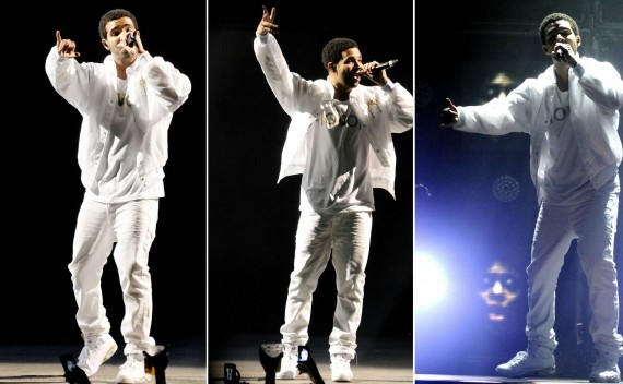 Drake Wearing Air Jordan VI Golden Moment