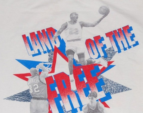 Vintage Gear: Nike Land of the Free Michael Jordan Dream Team T Shirt
