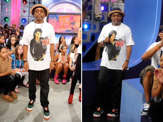 Spike Lee Wearing Unreleased Jordan Spizike