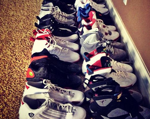 The Game Displays His Air Jordan Collection