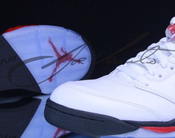 Air Jordan 5: White – Black – Fire Red | New Images