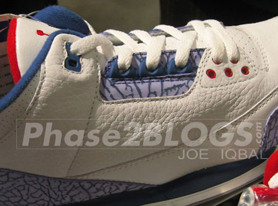Air Jordan III: True Blue Unreleased 2000 Sample