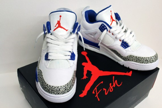 Air Jordan IV: Pure Blue Customs by FRSH