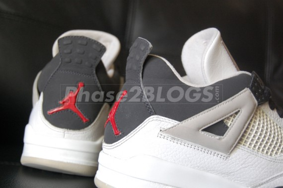 Air Jordan IV: Black   White   Red | Unreleased Sample