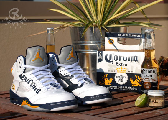 "Air Jordan V: ""Corona"" Customs by Revive"