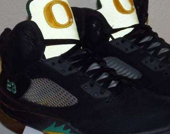 "Air Jordan V: ""Oregon Pit Crew"" Customs By Emmanuelabor"