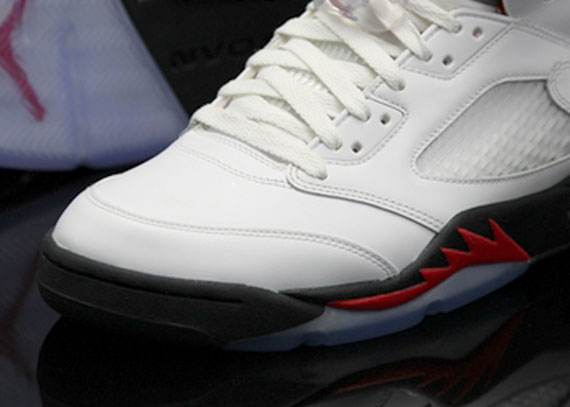 Air Jordan V: White   Black   Fire Red