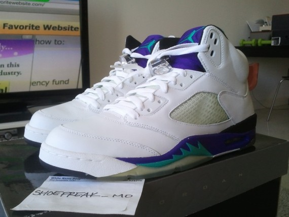 Air Jordan V: Grape 2013 Retro Release Info
