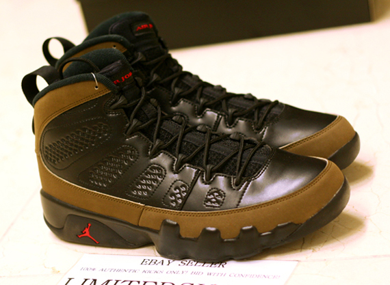 Air Jordan IX: Olive   Available Early on eBay