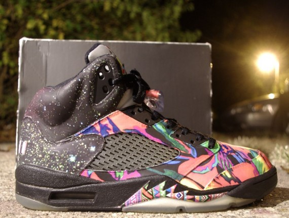 "Air Jordan V: ""Fresh Prince"" Customs by Rocket Boy Nift"