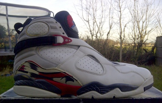 The Daily Jordan: Air Jordan VIII OG   White   Black   True Red   1993