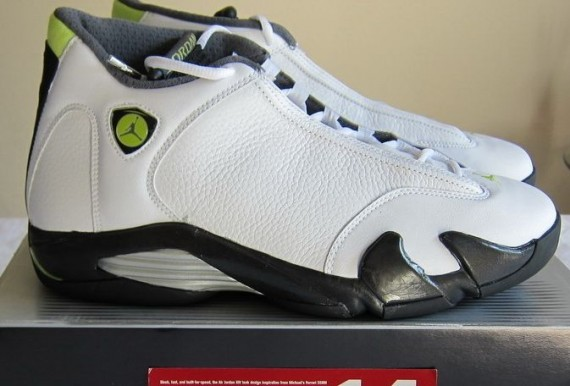 The Daily Jordan: Air Jordan XIV   White   Black   Chartreuse   2005