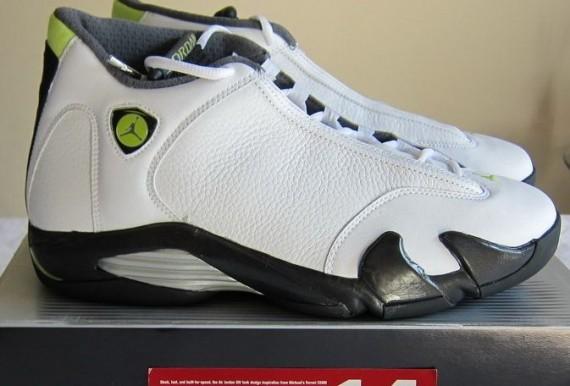 The Daily Jordan: Air Jordan XIV   White   Black   Chartreuse   2005