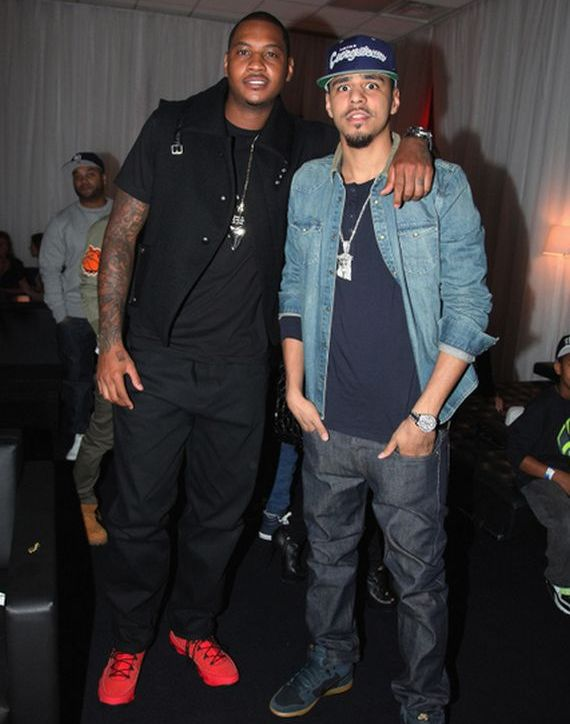 Carmelo Anthony Wearing Air Jordan IX Motorboat Jones