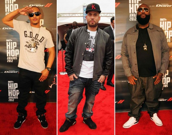 Celebrity Air Jordans @ 2012 BET Hip Hop Awards