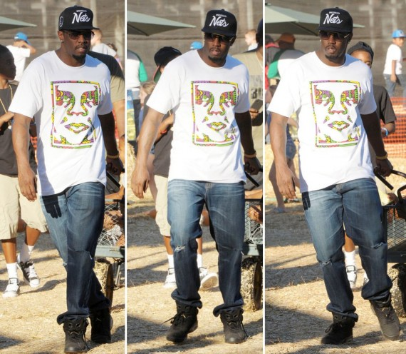 Diddy Wearing Air Jordan VI Defining Moments Pack