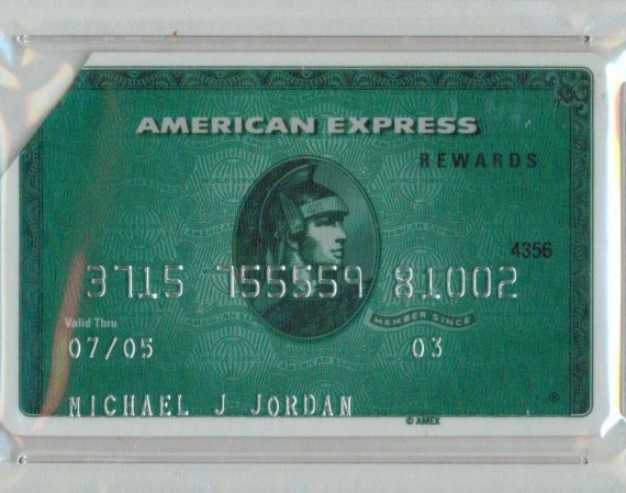 Michael Jordans American Express Credit Card Auction
