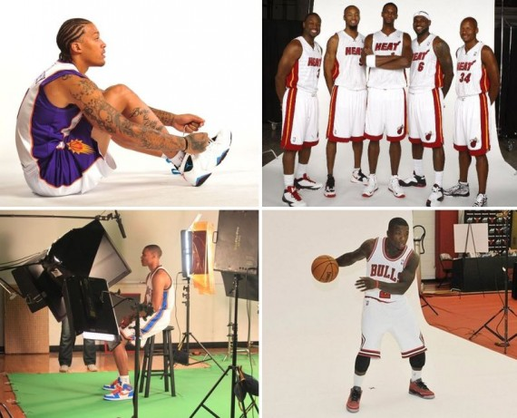 Air Jordans @ NBA Media Day 2012