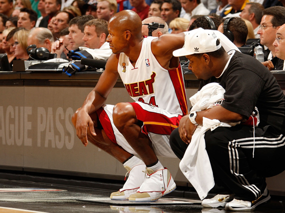 Ray Allen Wearing Air Jordan XVI Gold PE