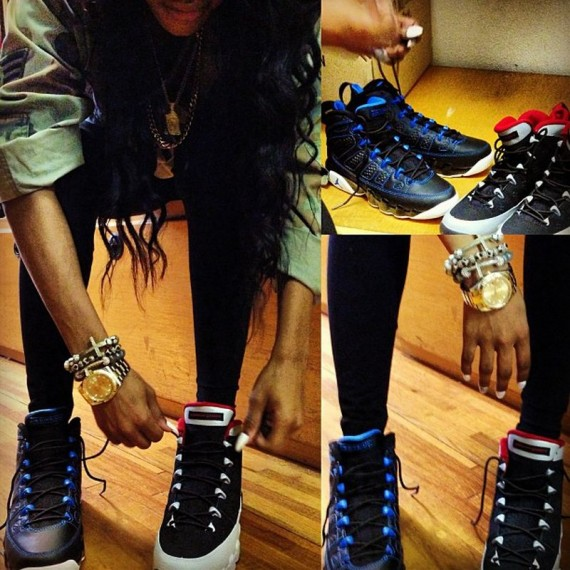 Teyana Taylor Wearing Upcoming Air Jordan IX Retros