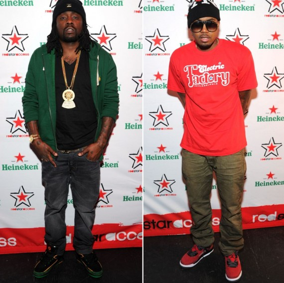 Wale and Nas Wearing Air Jordans