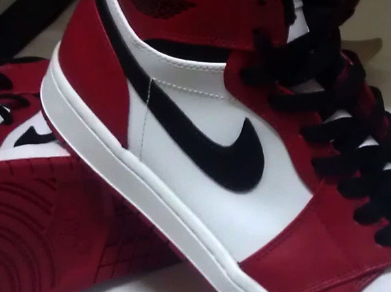 Air Jordan 1 High: White   Varsity Red   Black | 2013 Retro