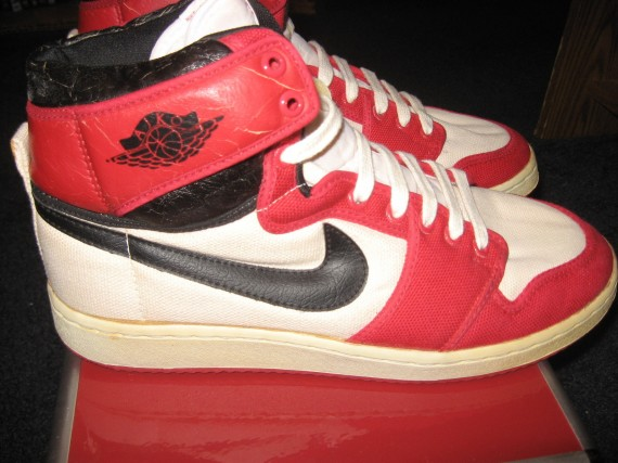 The Daily Jordan: Air Jordan 1 KO OG   White   Red   Black 1985