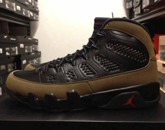 Air Jordan IX: Olive   Release Reminder