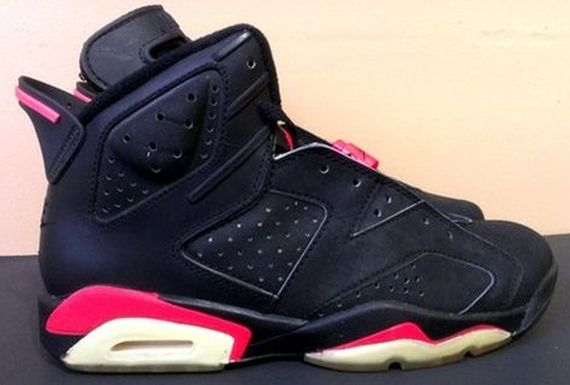 ... of The Daily Jordan for today is a sneaker most of you have no doubt  lusted over at one point or another: the original Air Jordan VI in black/ infrared.