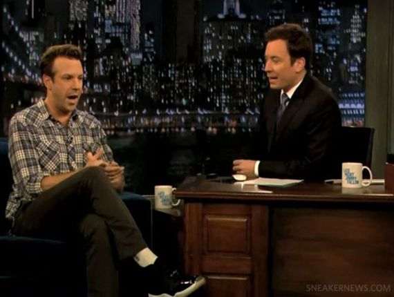 "Jason Sudeikis Wearing Air Jordan XI ""Space Jam"""