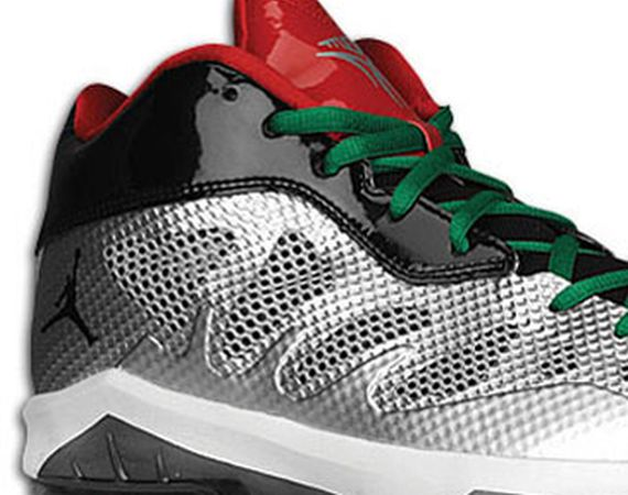 Jordan Melo M8 Advance: Metallic Silver   Black   Pine Green