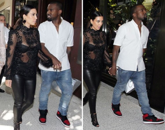 Kanye West Wearing Air Jordan 1 KO