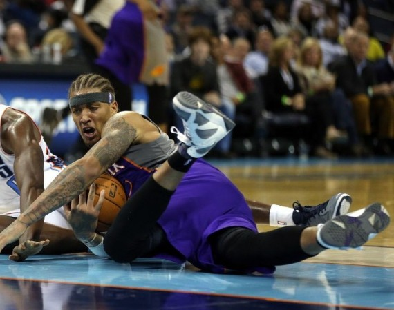 "NBA Jordans on Court: Michael Beasley in Air Jordan VII ""Flint"""