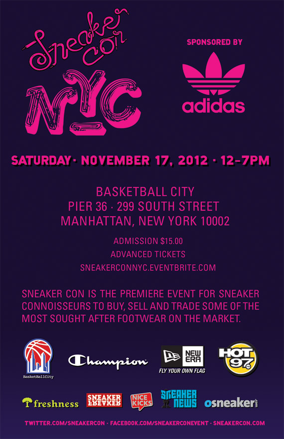 Sneaker Con NYC: November 17th, 2012 | Event Reminder