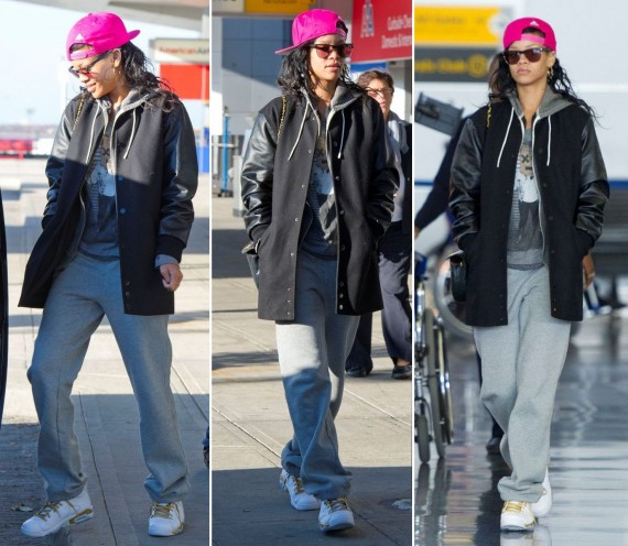 Rihanna Wearing Air Jordan VI Golden Moments