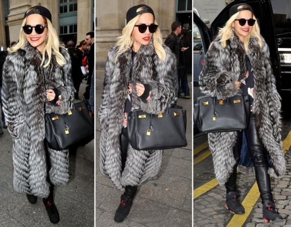 Rita Ora in Air Jordan VI Black/Infrared