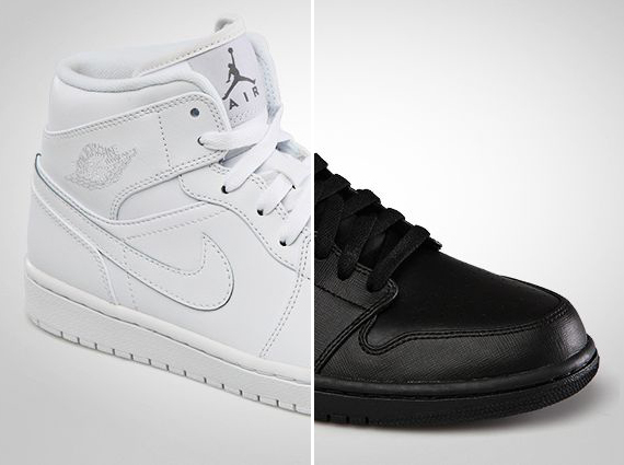 Air Jordan 1 Mid: Black + White | January 2013