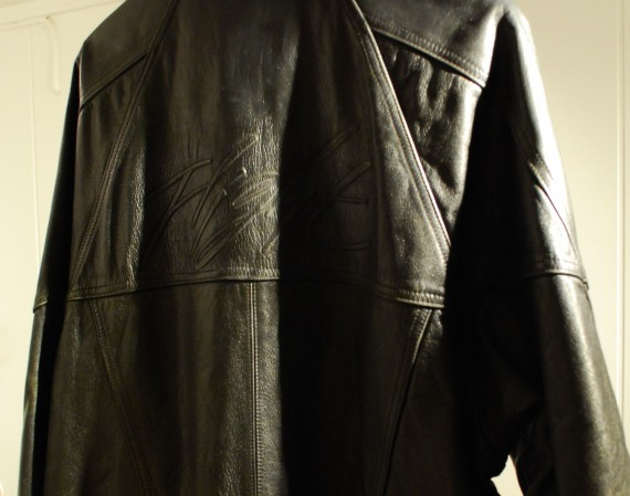 Vintage Gear: Air Jordan Flight Black Leather Jacket