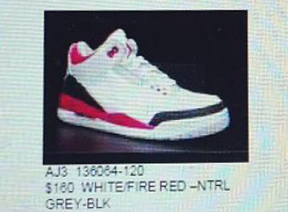Air Jordan III: Fire Red  Confirmed for Fall 2013