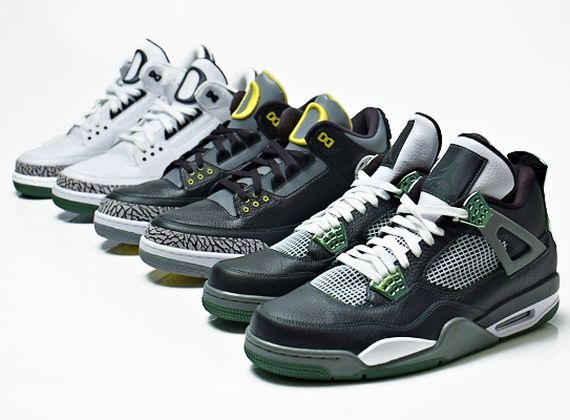 Air Jordan III + IV: Oregon Ducks Collection