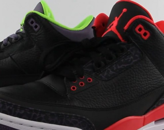 "Air Jordan III: ""Bright Crimson"" + ""Joker"" Comparison Video"