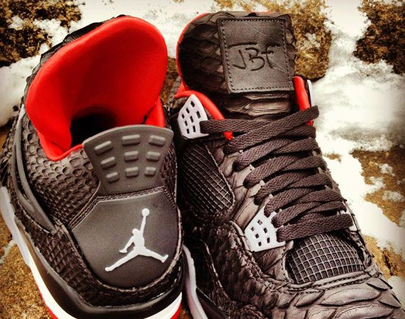 "Air Jordan IV ""Python"" Customs by JBF"