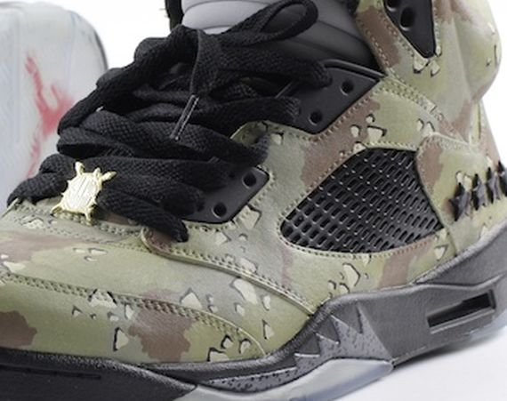 Air Jordan V: Desert Storm Customs by El Cappy and Joe Venuto