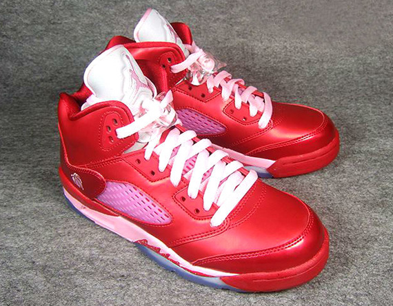"Air Jordan V Retro GS: ""Valentine's Day"""