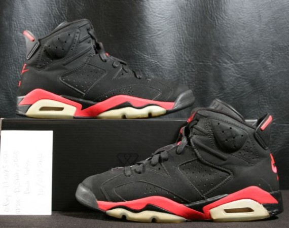 Air Jordan VI Reverse Infrared Sample